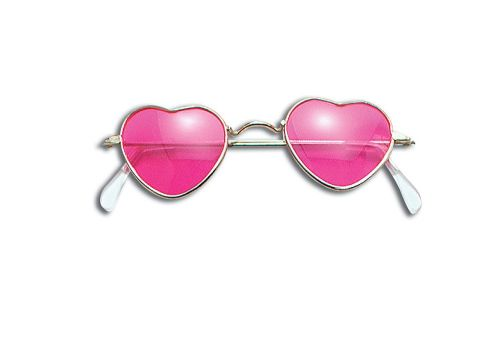 Glasses Heart Shaped Pink Valentines Love Romance Fancy Dress Accessory